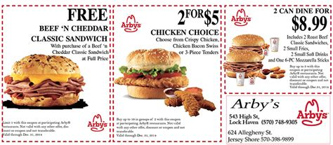 Arbys Coupons Online For November | Coupon Codes Blog Arby S Coupons