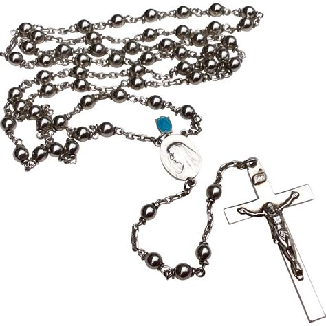 silver rosary vintage sterling silver catholic religion rosary from