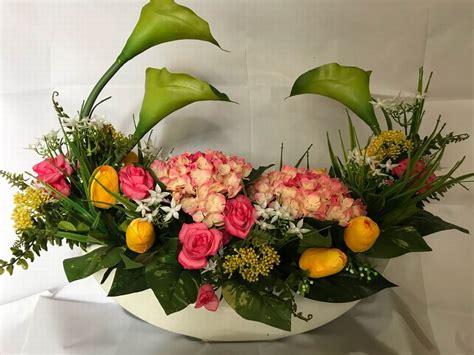karangan bunga meja