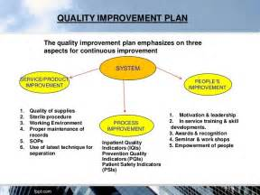 Quality Plan Template For Manufacturing by Quality Improvement Plan Template Best Template Idea