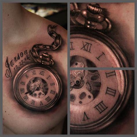 tattoo old school watch black and grey pocket watch by ryan mullins tattoonow