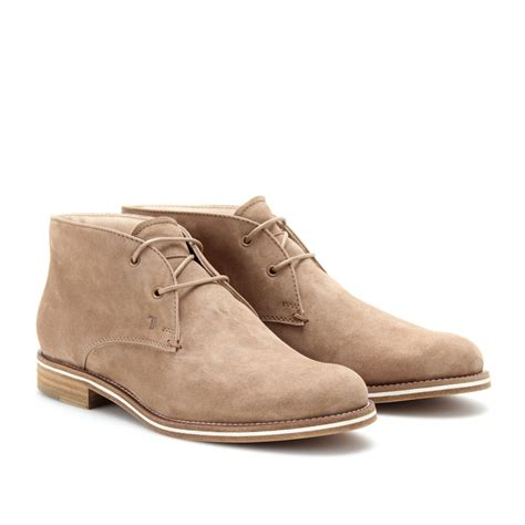 tod s tods no code suede desert boots in lyst
