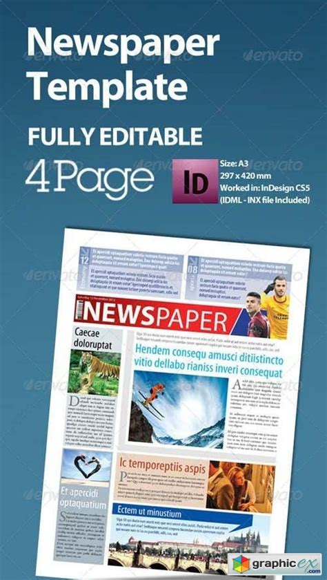 1 3 page flyer template newspaper template a3 format 4 page 187 free vector