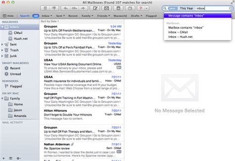 Aol Email Address Lookup Review Apple Mail 5 0 Macworld