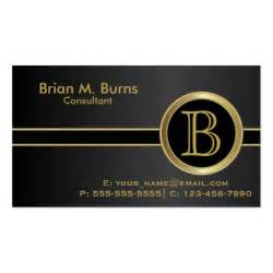 executive business cards executive classic black monogram business card zazzle