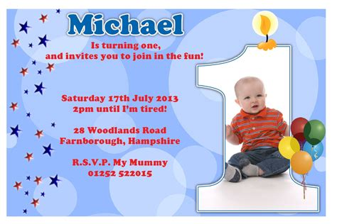 1st year birthday invitation cards free birthday invitation ideas bagvania free
