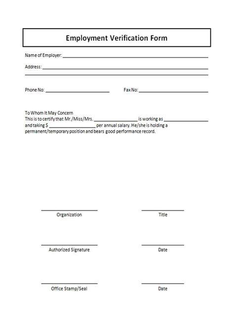 employment verification request form template printable employment verification form complete guide