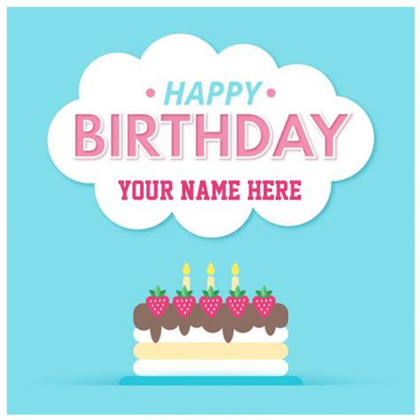 Birthday Card With Name Generator Write Name On Birthday Cake And Greeting Card Online