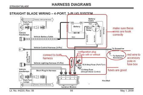 fisher plow isolation module wiring diagram plow