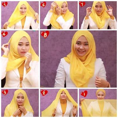 tutorial berhijab segi empat 2015 tutorial hijab segi empat paris praktis baju pengantin