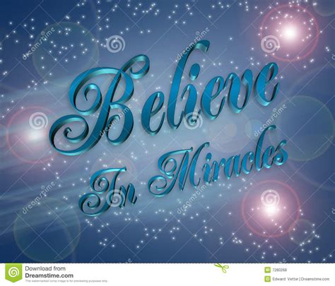 A Miracle Free Believe In Miracles Illustration Stock Illustration Illustration 7280268