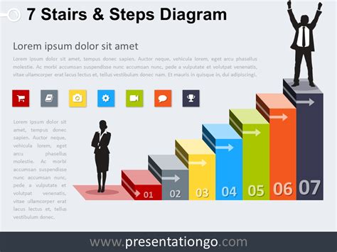 diagram steps 7 stairs and steps powerpoint diagram presentationgo
