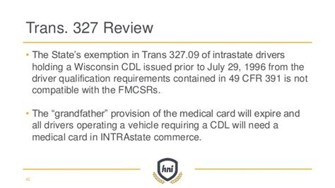 49 cfr section 390 5 fmcsa wisconsin state patrol update 2016