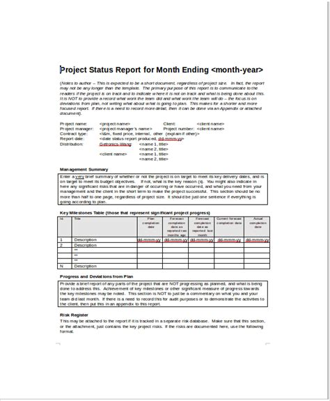 monthly project progress report template 8 project status templates free sle exle format free premium templates