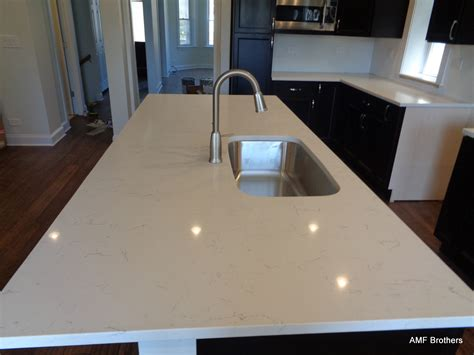Quartz Countertops Chicago by Bianco Picasso Chicago Amf Brothers