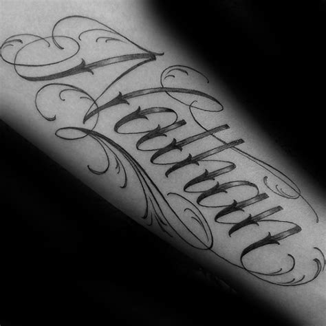 nathan tattoo designs 40 forearm name tattoos for manly design ideas