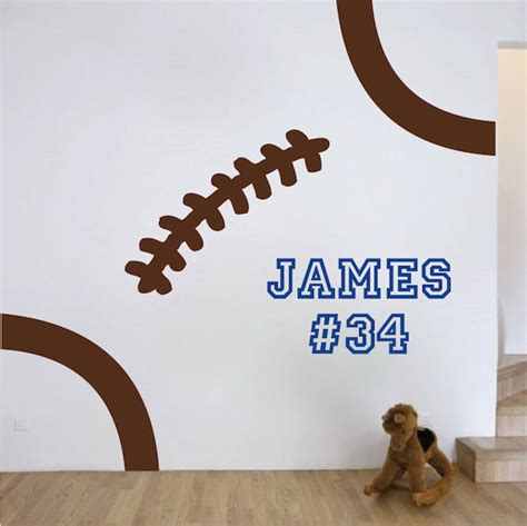 wall stickers football football wall decal sports vinyl wall decals stickers graphics decor with football