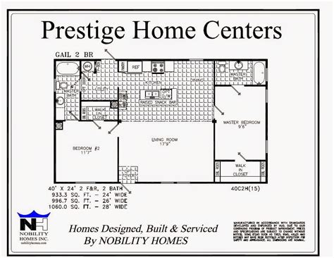 2 bedroom single wide floor plans prestige home centers manufactured homes mobile homes