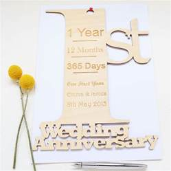 personalised 1st wedding anniversary card by hickory dickory designs notonthehighstreet