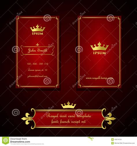 The Royal Store Business Card Template by Business Card Template In Royal And Gold Style Stock