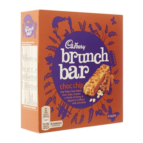cadbury brunch bar choc chip 6 pack 32g from redmart