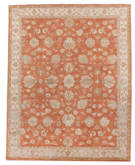 Orange And Beige Rug beautiful traditional handmade 8x10 area rug orange beige