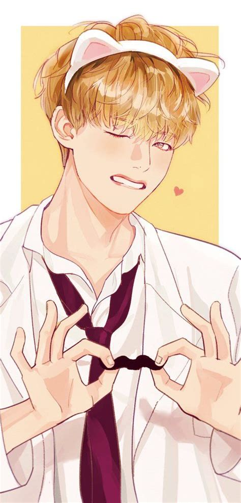 V Anime Fanart by Jauni Jaunini On Bts V Fanart V Bts