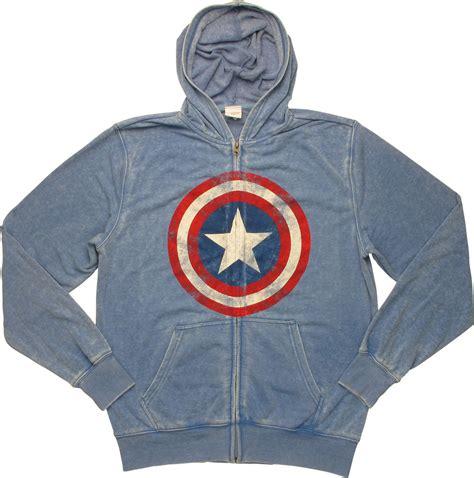 Hoodie Zipper Captain America Redmerch captain america shield lightweight zip hoodie