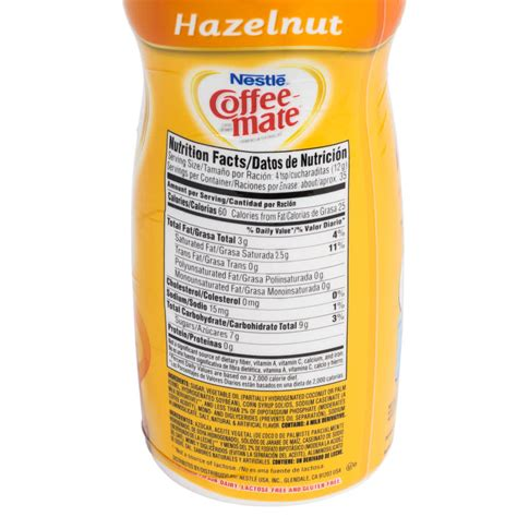 Creamer Coffee Mate nestle coffee mate hazelnut coffee creamer shaker 15 oz