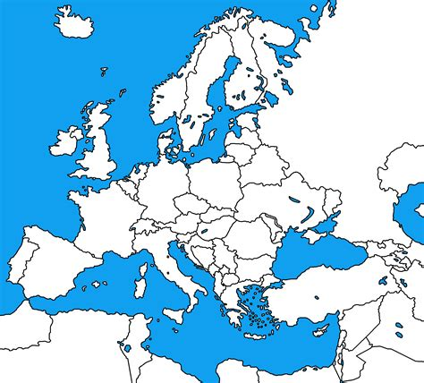 map to europe europe blank map grahamdennis me