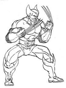 free printable wolverine coloring pages for