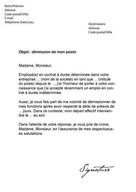 Exemple De Lettre Type De Demande De Rupture Conventionnelle Lettre De D 233 Mission Cdd Avec Pr 233 Avis Mod 232 Le De Lettre
