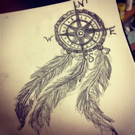 dreamcatcher compass tattoo neck compass dreamcatcher tattoos my compass dream catcher