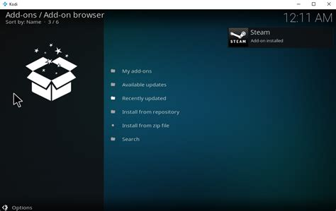play steam from kodi with the steam launcher add on