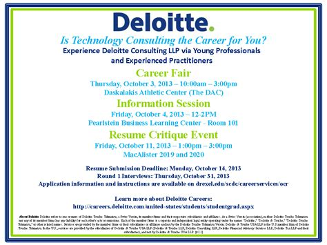 28 deloitte consulting resume deloitte consulting deadline thursday september 13th deloitte