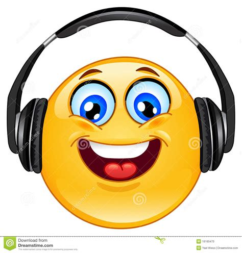 royalty free stock emoticon designs of headphones headphone emoticon stock photo image 16160470