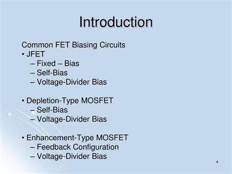 fet transistor introduction ppt fet biasing powerpoint presentation id 624290
