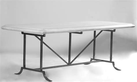 marble outdoor dining table tables barcelona table base 8 10 forged steel