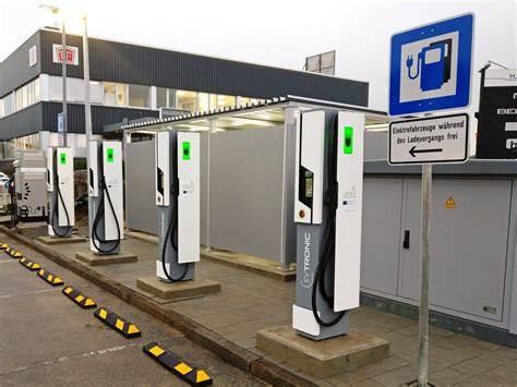 charging station in charging stations first ultra fast electric car charging station comes