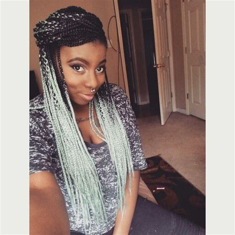 how to do ombre box braids mint braids ethnic hair pinterest colors ombre and