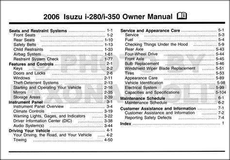 download car manuals pdf free 2006 isuzu i 280 parking system service manual repair manual 2006 isuzu i 280 wheel drive service manual how to remove