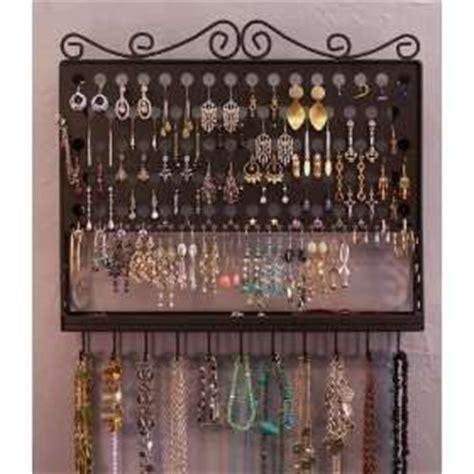 Murah Grosir Hanging Jewelry Organizer Accecories Display Hanging Tem angelynn s accessory metal black wrought iron multi purpose jewelry organizer