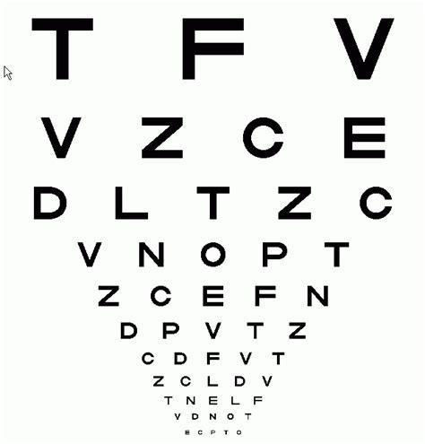 printable eye chart letter size standard eye chart