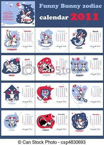 Signos Calendario Vetores De Engra 199 Ado Coelhinho Signos Calend 225
