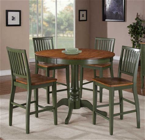 Candice Round Pedestal Counter Height Dining Table In Oak Counter Height Pedestal Dining Table