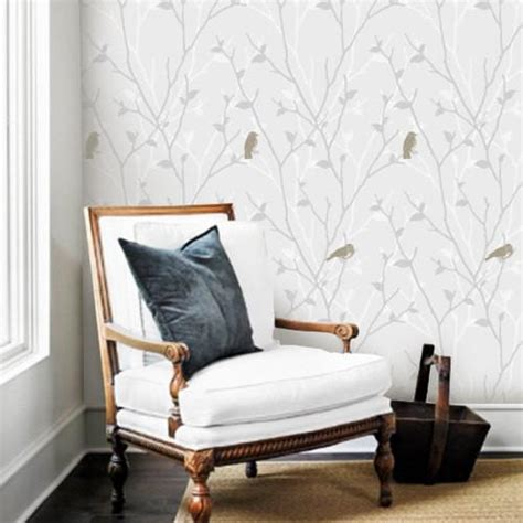 grey removable wallpaper branch and birds grey removable wallpaper pinknbluebaby