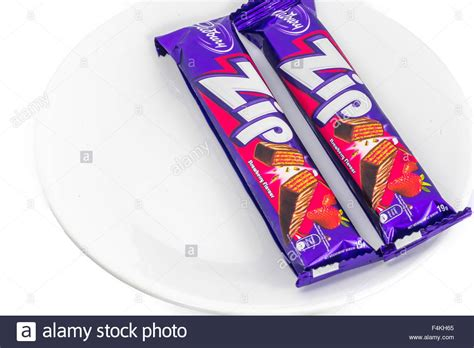 cadbury zip chocolate wafer bar owned by mondelez international stock photo royalty free image