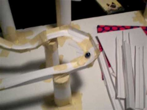 How To Make A Roller Coaster Out Of Paper - paper roller coaster
