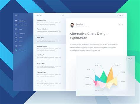 pattern javascript email fluent design email app