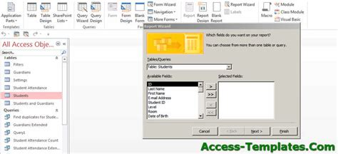 How To Create Ms Access Reports Microsoft Access Tutorial How To Create A Template In Access